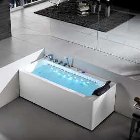 Baignoire Balneo rectangulaire HAMILTON Zeland® 170 x 75 - gauche
